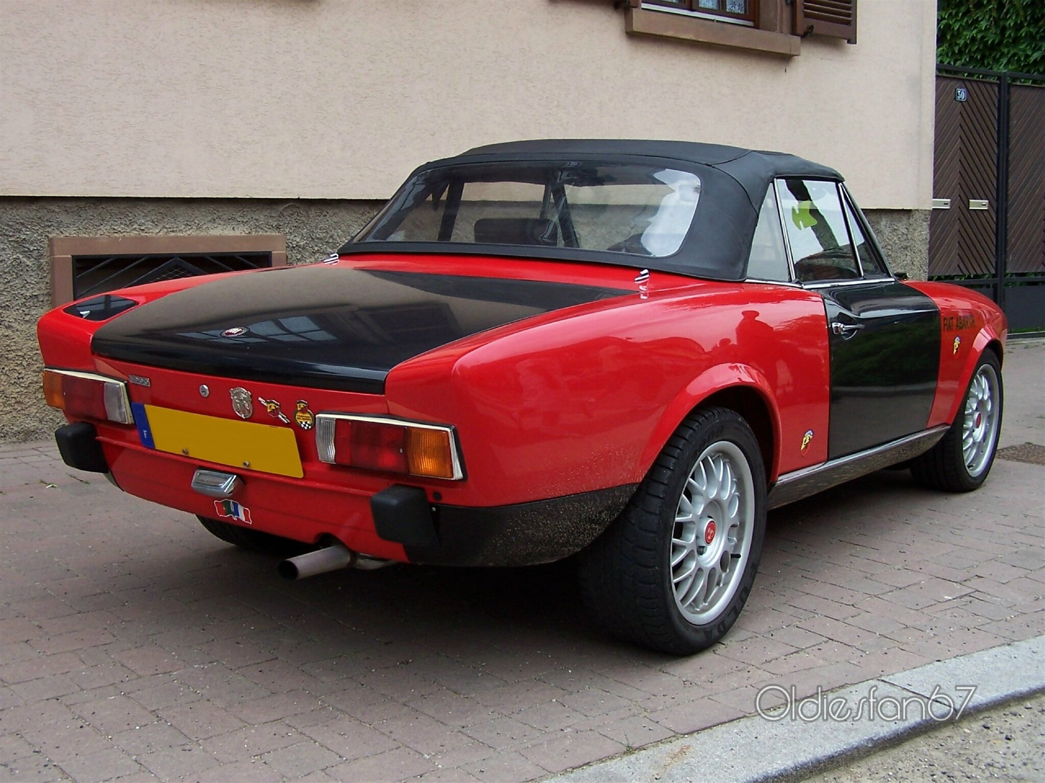 fiat 124 abarth spider 1972 1974 oldiesfan67 mon blog auto. Black Bedroom Furniture Sets. Home Design Ideas