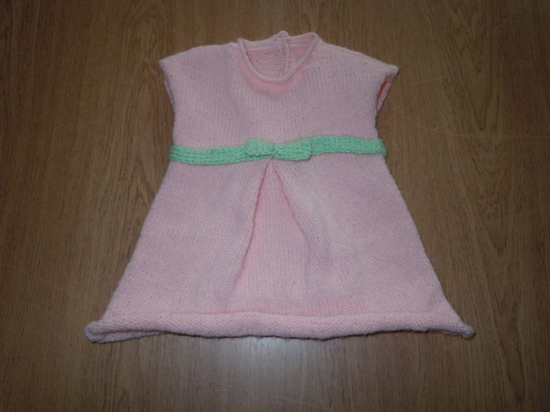 tricoter une robe 3 ans