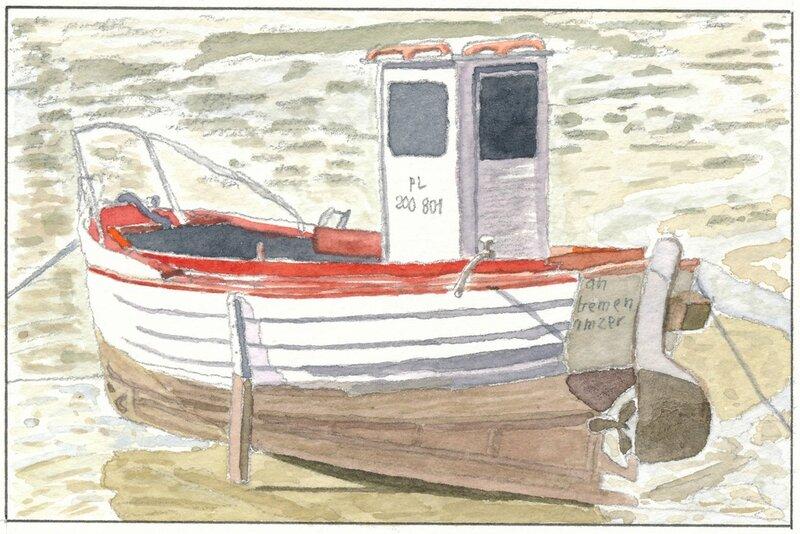 Bretagne 05 barque à bords rouges (sans bords)