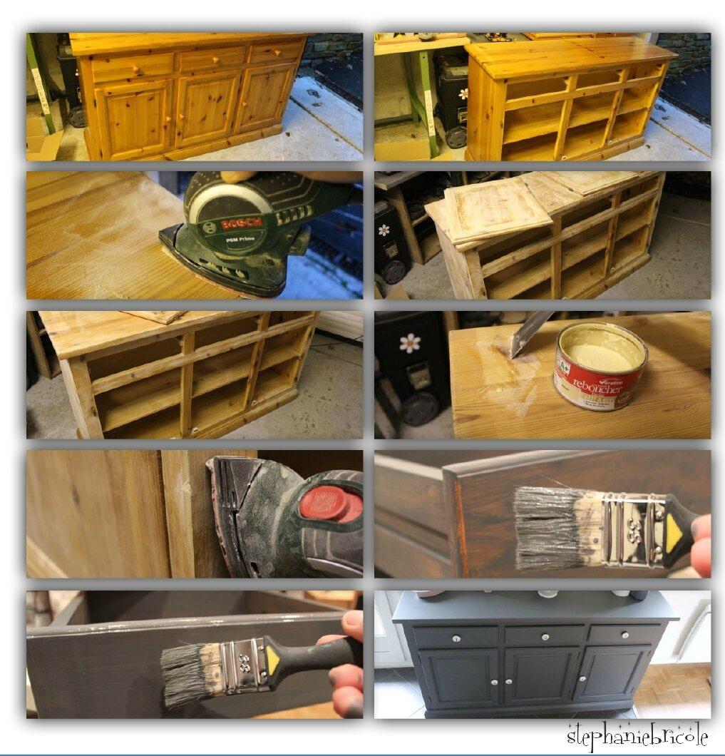 d co bricolage bahut en pin r cup 39 et repeint st phanie bricole. Black Bedroom Furniture Sets. Home Design Ideas