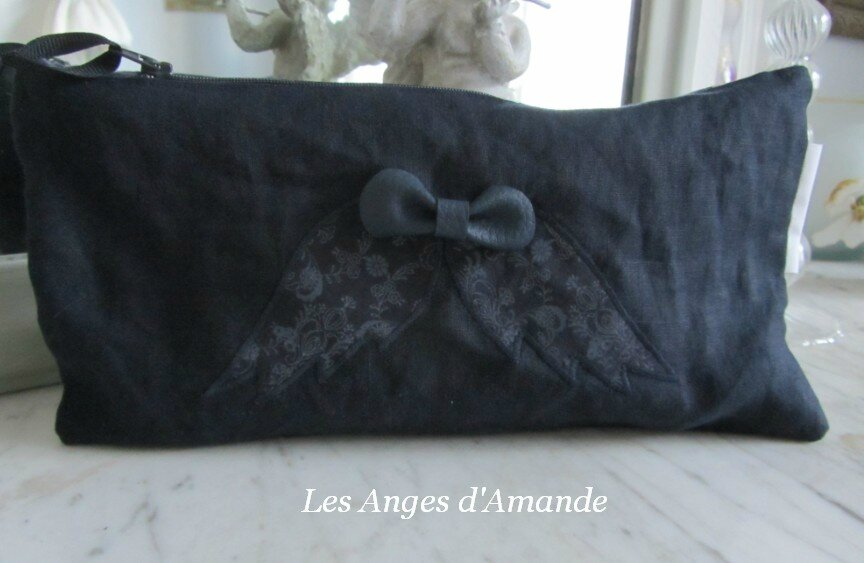 trousse lin ailes d'anges noeud