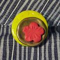 Bague Céramique et bouton doré