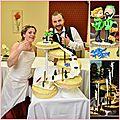 Mariés en porcelaine froide, tenue de snowboard, décoration de gâteau