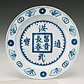A blue and white 'coin' dish, 17th century – sotheby's