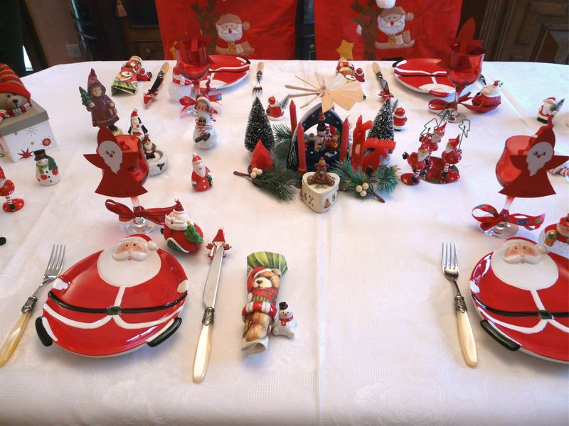 Table belge deco de tables - Decoration de table de noel a fabriquer ...