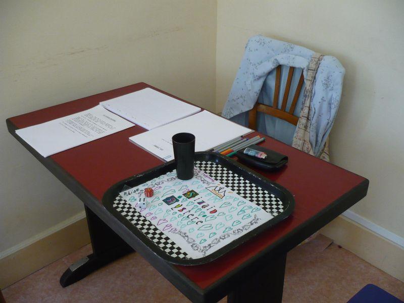 ... avec une table de jeu fin prête ...