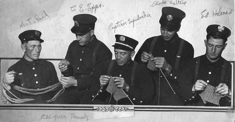 Pompiers de LA au tricot - 1917
