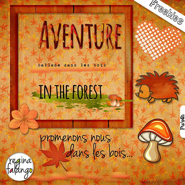 "Scrapbook freebie ""Adventure in the forest"" from Regina Falango"