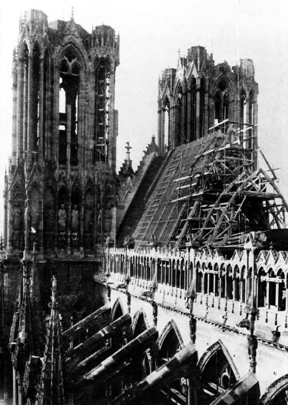 Cathédrale Reims 1918-1