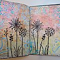 Page art journal avec donna downey