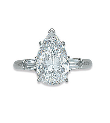 A diamond ring, by Harry Winston