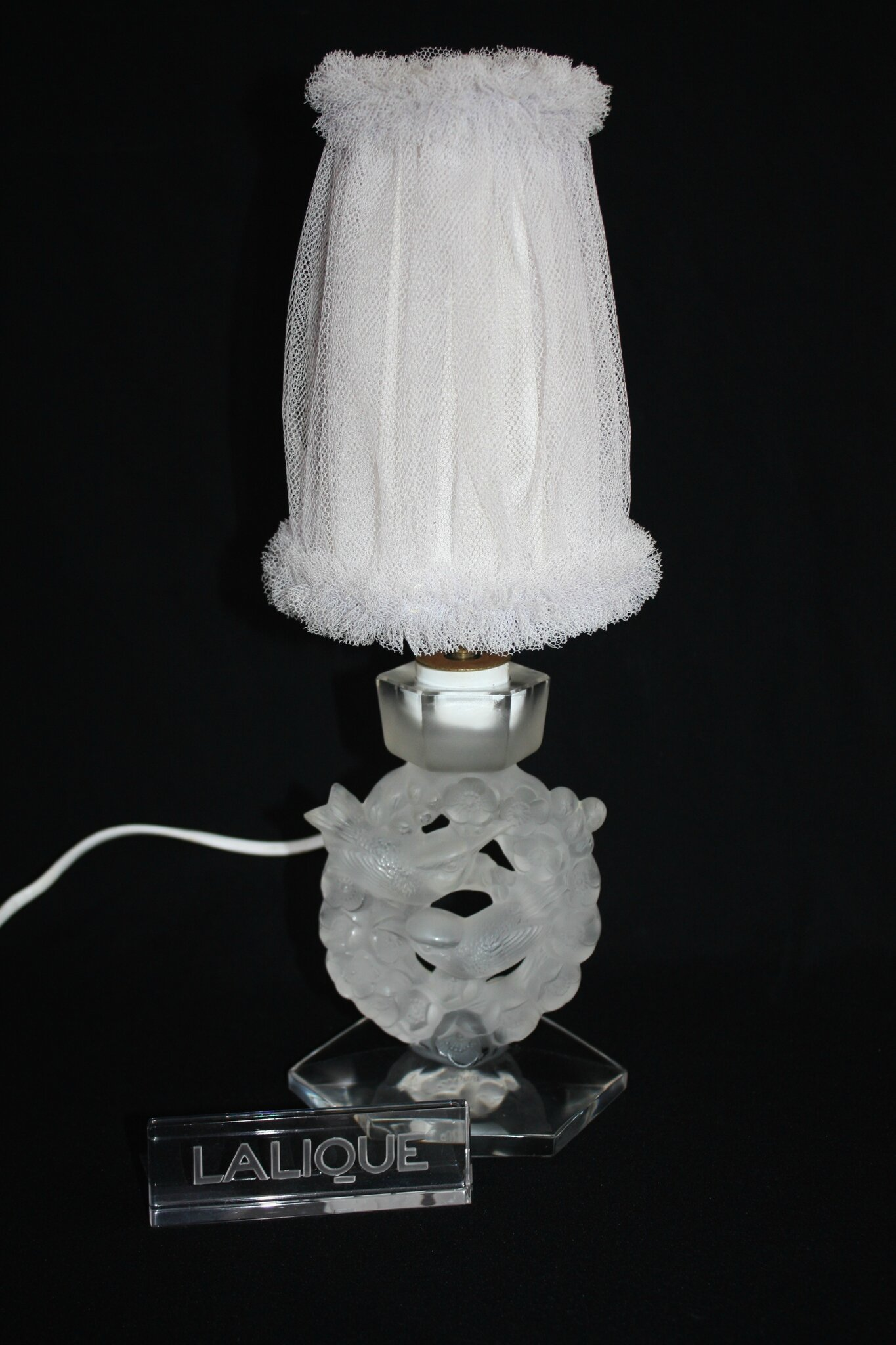 Lampe Lalique Mésanges