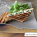Croque monsieur épinards -chèvre ( 200 cal/ par croque)