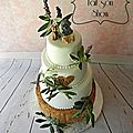 Wedding cake nature : bois, lavande et olivier
