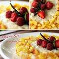 Riz au lait et brunoise de fruits frais