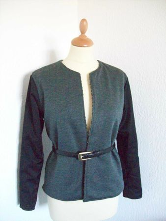 burda modle veste boite bicolore2