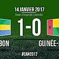 But aubameyang gabon - guinée-bissau (1-0) - can 2017