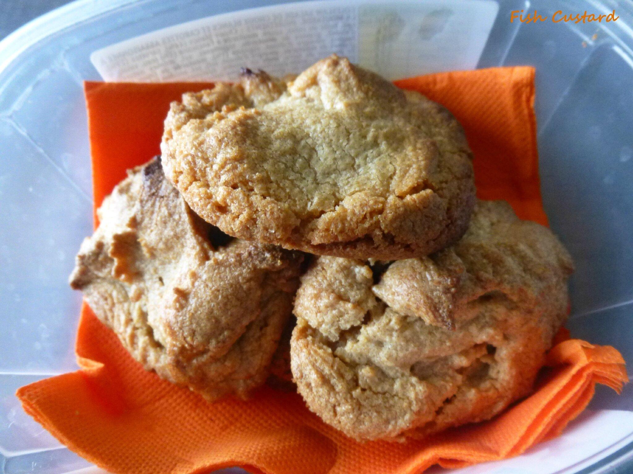 Cookies au beurre de cacahuète (sans gluten, sans lactose)