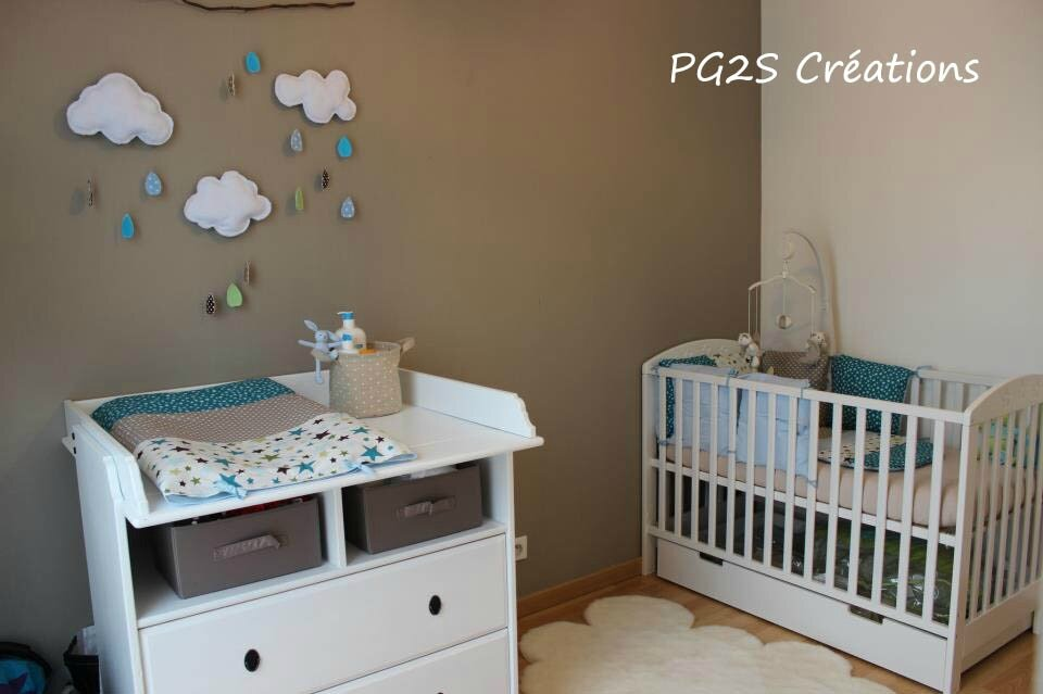 Chambre Bebe Turquoise Et Taupe – Chaios.com