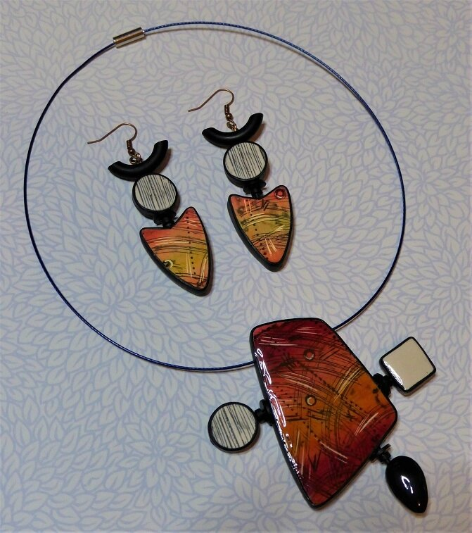 SOLY CAT-COLLIER + BO FACE ROUGE-ORANGE