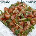 Salade de tomate au citron confit