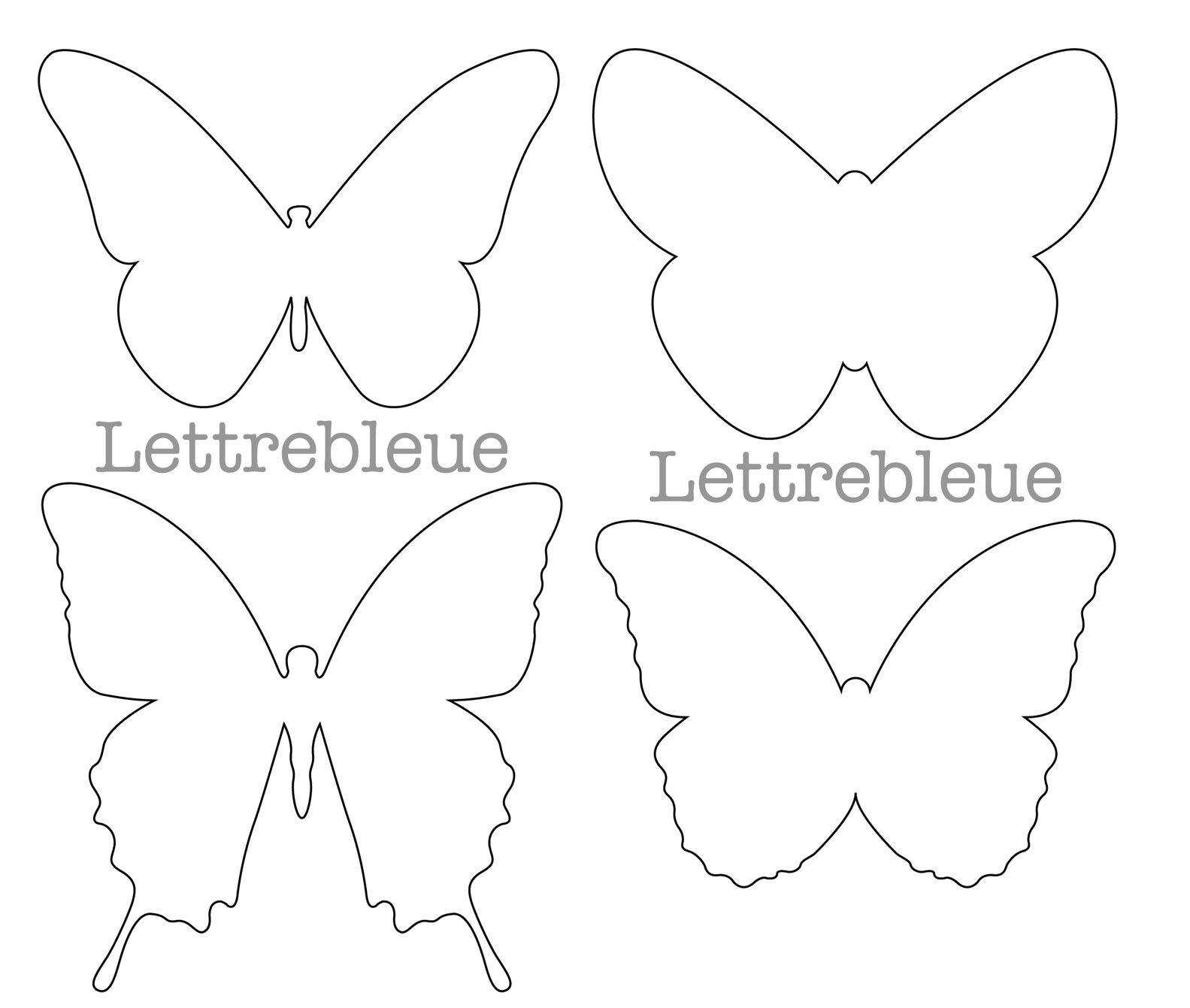 Des papillons partout la belle saison la cabane de m lusine - Dessin papillon a decouper ...