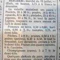 Les prix du marche ....en 1930.....