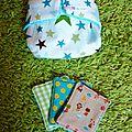 couche lavable pour poupée 3 lingettes : 20 euros