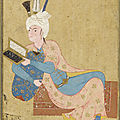 Prince Reclining, ca. 1530. Aqa Mirak. Safavid period. 