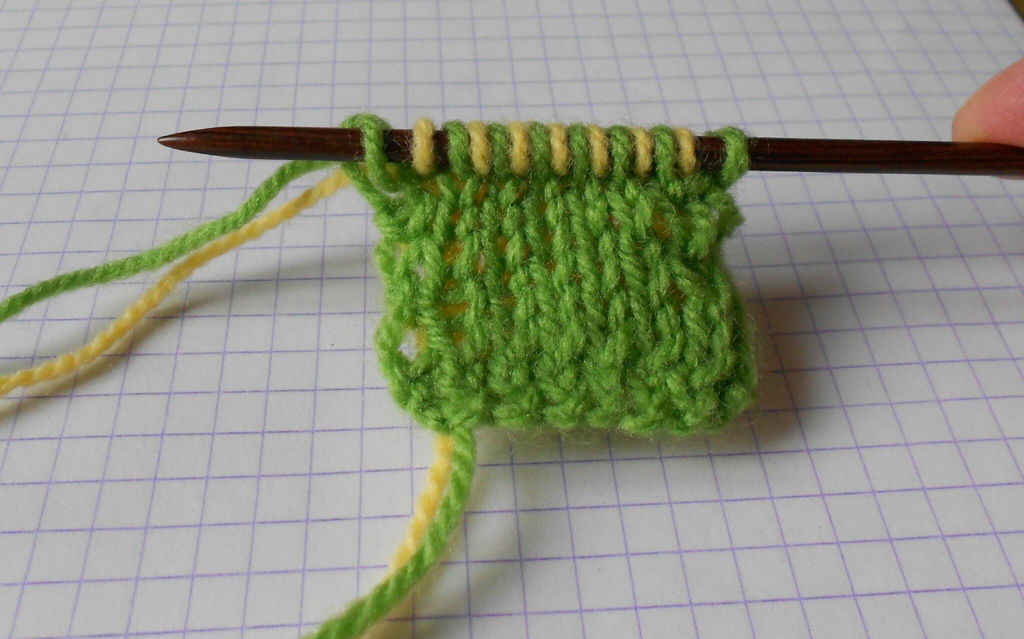 tricoter fil double
