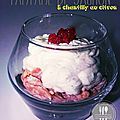 Tartare de saumon et chantilly au citron en verrine