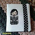 Un cadeau de lysette : le porte-cartes jon snow !