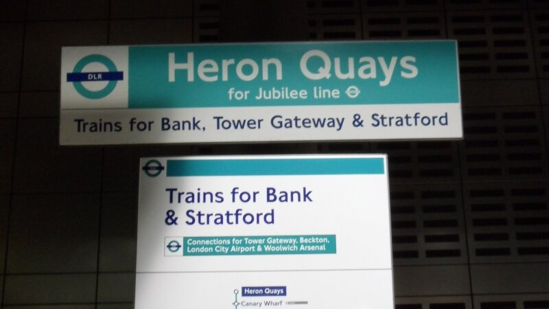 Docklands Light Railway : Station Heron Quays