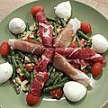 Salade printanière de haricots verts et ebly