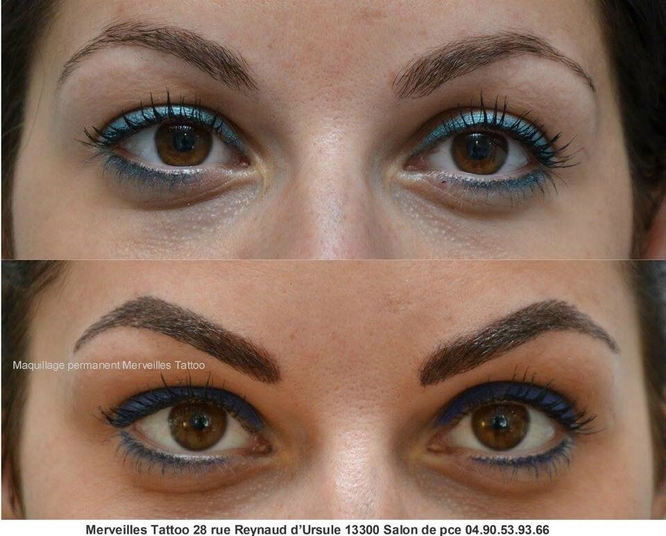 Maquillage permanent des sourcils méthode poil à poil réalisé par Vanessa