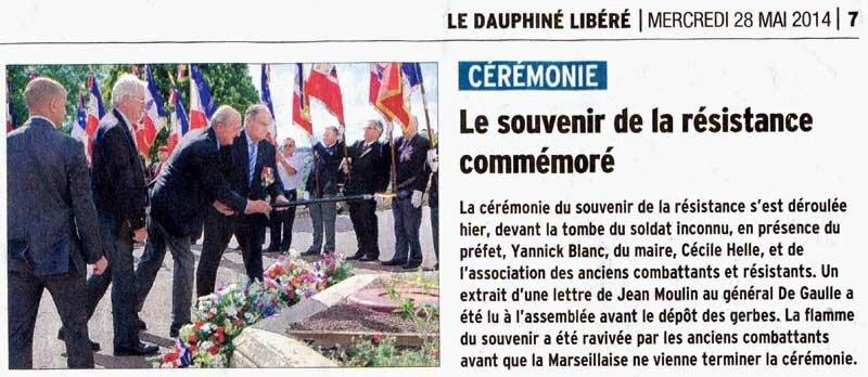 Journée de la Résistance à Avignon 2014