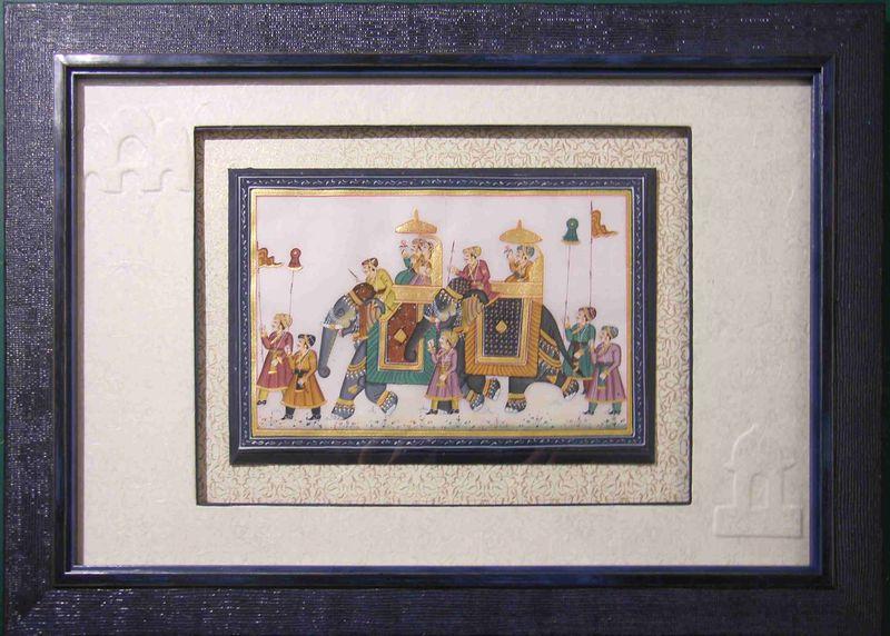 Encadrer une miniature indienne les cours de l 39 atelier d 39 anne - Technique d encadrement d un tableau ...