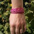 Bracelet rose brésilien rubans