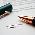 La signature du contrat d'édition