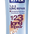 Shampoing et masque 1-2-3 long repair de nivea