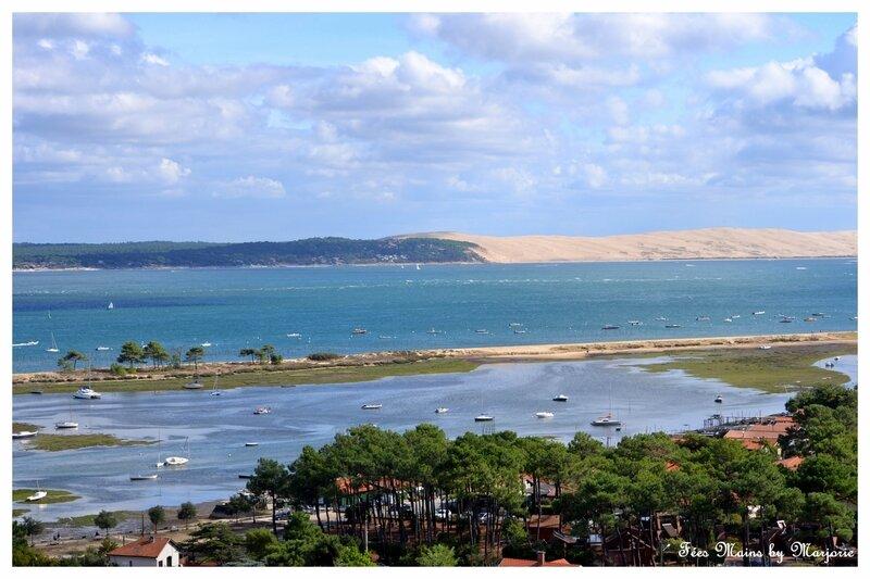 La dune du Pilat vue du phare du Cap-Ferret