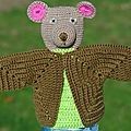 Crocheter un ours marionnette