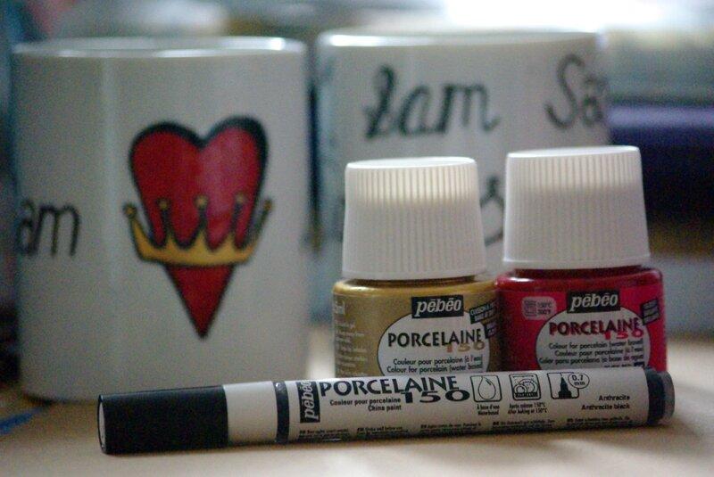 peinture porceleine saint valentin