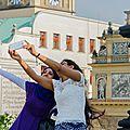 Selfie et image de rue