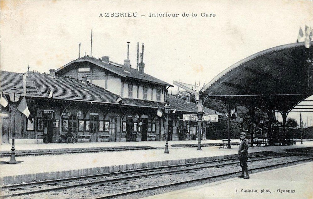 la gare d 39 amb rieu en bugey 01 quelques photos d 39 poque 1900 1910 architecture batiments et. Black Bedroom Furniture Sets. Home Design Ideas