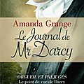 Le journal de mr darcy, d'amanda grange