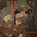 Cats playing, anonymous, sung dynasty, hanging scroll
