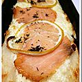Pizzettas au saumon et citron