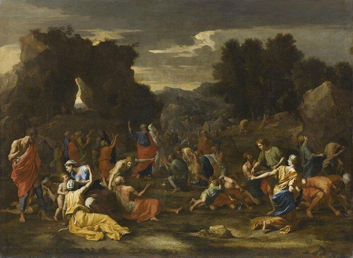 Nicolas Poussin, La Manne ou Les Israélites recueillant la manne dans le désert, 1638