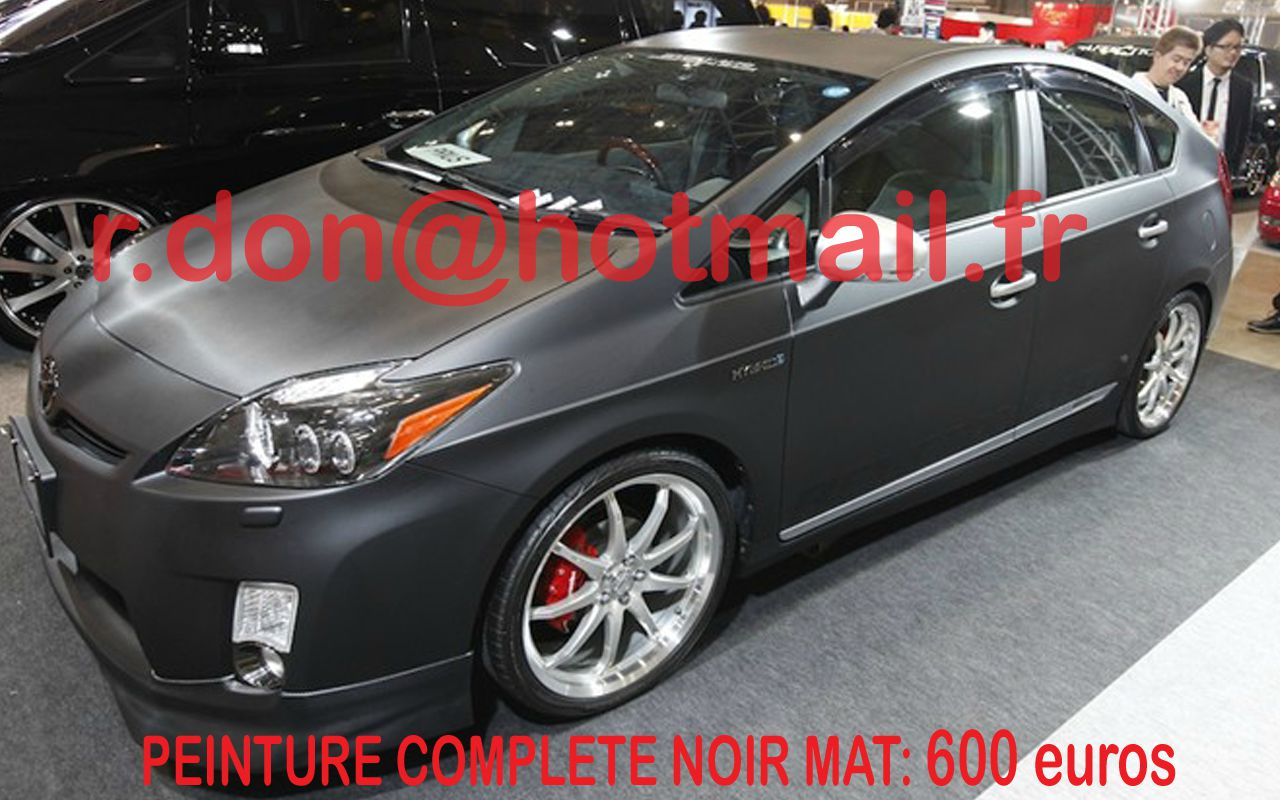 toyota prius covering noir mat peinture de v hicule noir mat black mat. Black Bedroom Furniture Sets. Home Design Ideas